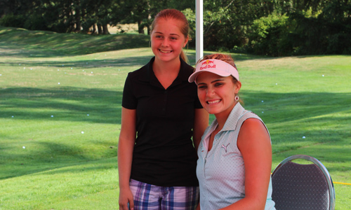 Lexi Thompson and Sophie Fuerbringer