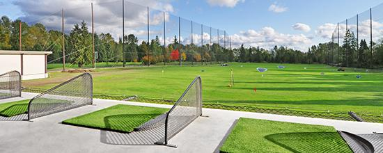 Golf courses driving ranges pro shops golf burnaby for Verlichte driving range